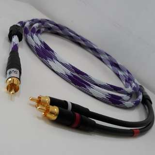 SubWoofer 1RCA to 2RCA cable