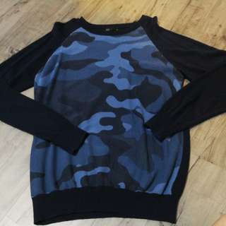 Blue Camo pullover from Seed Men