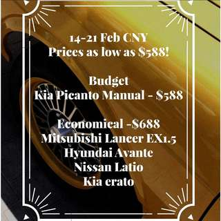 14-21Feb CNY PROMOTION From $588