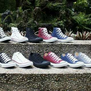 Converse low-cut/high-cut 36-45