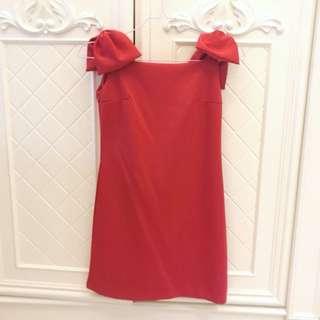 Chloe Red Ribbon dress