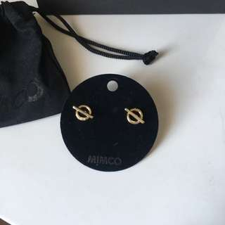 Mimco gold earrings brand new