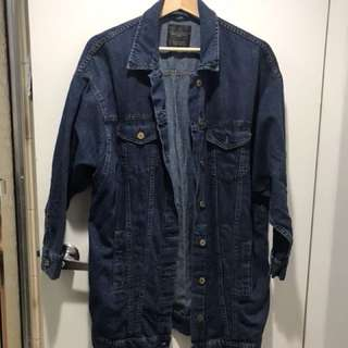 ZARA long denim jacket