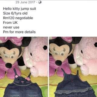 Hello kitty jumpsuit from UK