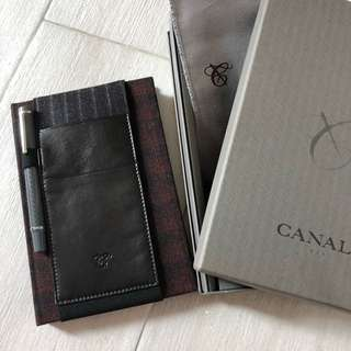 Canali notebook and pen set
