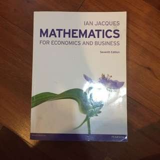Matematika Ekonomi Bisnis Buku Kuliah