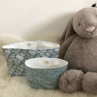 The Cheerful Piglet Liberty Print Toy Baskets