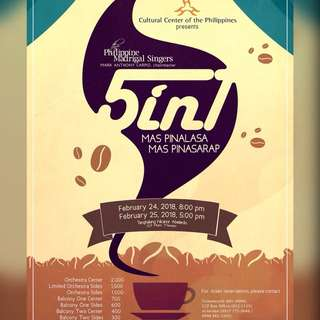 Philippine Madrigal Singer 5in1 Concert