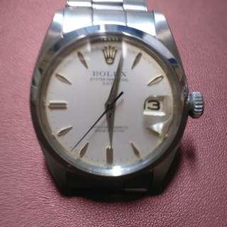 1961年舊裝勞力士 (Rolex Model: 1500) 自動日曆天文台錶