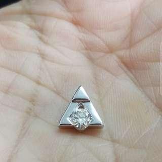 Mabelle 18K白金21份鑽石吊咀