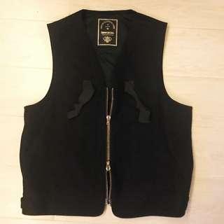 Kiminori Morishita 100%wool black Vest size48 Made in Japan