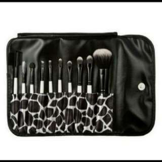 (Gift idea) 10 pcs professional make up brush set with pouch