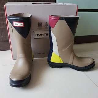 HUNTER 拼色雨靴 水鞋