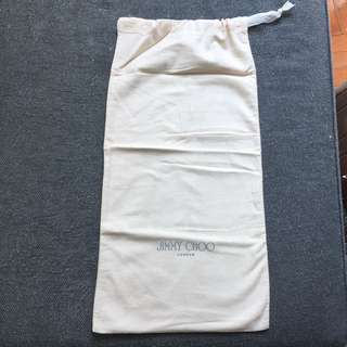 Jimmy Choo beige drawstring bag