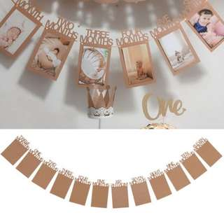 [IN STOCK] 1-12 months Baby Photo Banner