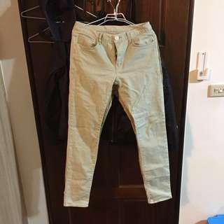 🚚 韓版窄管長褲 青綠色