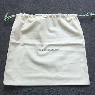 Pierre Balmain beige drawstring bag