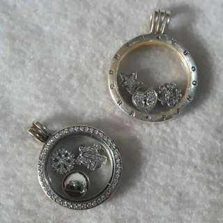 PANDORA LOCKETS WITH CHAIN