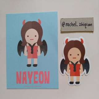 [READY STOCK] TWICE TWICELAND THE OPEINING POSTCARD + STICKET SET (NAYEON)