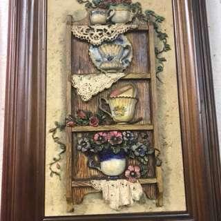 收納鑰匙壁掛圖畫