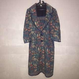 Blazer Batik Kerja Kantoran