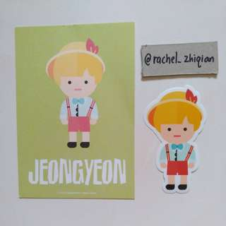 [READY STOCK] TWICE TWICELAND THE OPENING POSTCARD + STICKER SET (JEONGYEON)
