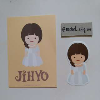 [READY STOCK] TWICE TWICELAND THE OPENING POSTCARD + STICKER SET (JIHYO)