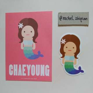 [READY STOCK] TWICE TWICELAND THE OPENING POSTCARD + STICKER SET (CHAEYOUNG)