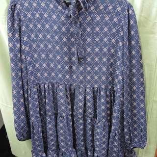 🚚 深藍色氣質短洋裝