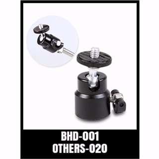 BHD-001 GOPRO ACCESSORIES - MINI BALL HEAD