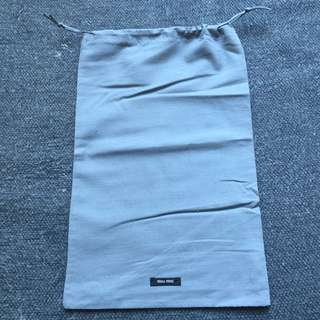 Miu Miu grey drawstring bag