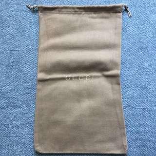 Gucci camel drawstring bag