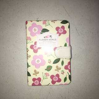 Pink Floral Ruled Notebook with Magnetic Lock