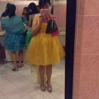 Yellow Cocktail Gown