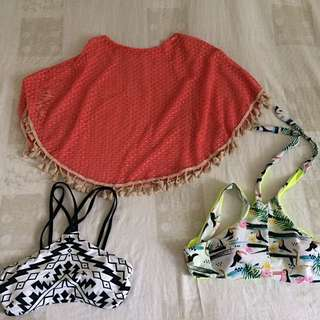 SALE bikini top bundle and cover up