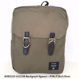 Tas Ransel Anello Backpack Square A1235 - 5