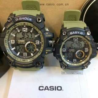 G-shock and baby-G couple watch (more colors avail)