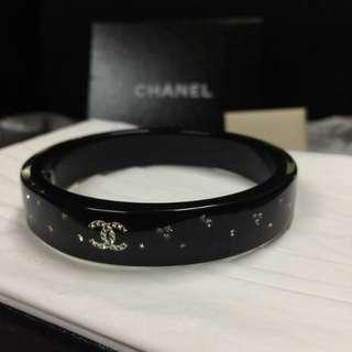 Chanel bracelet embeded w white crystal
