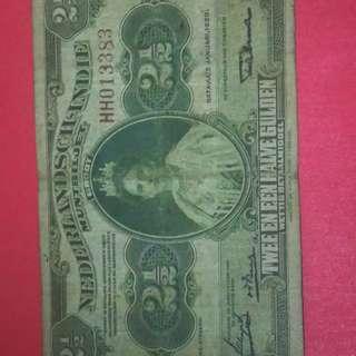 Netherland Indies 2.5 gulden scarce note fine