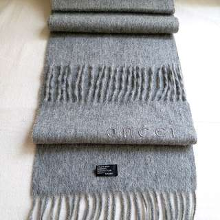 (95%New)100%Cashmere Gucci Vintage Scarf