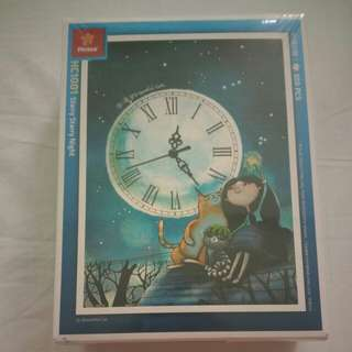 BNIB 300 Pcs Jigsaw + Clock