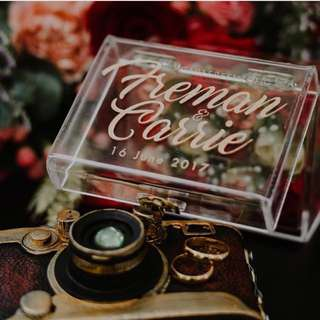 Wedding Ring Box personalized