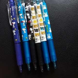 0.5mm snoopy /rilakuma /miffy pilot fixion pen