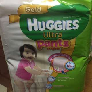 Huggies Gold Ultra Diapers (Pants for Girl)