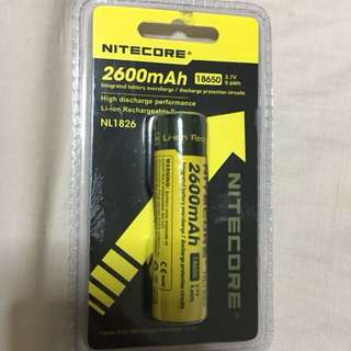 Nitecore, Rechargeable battery