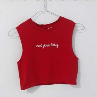 NOT YOUR BABY CROPTEE H&M
