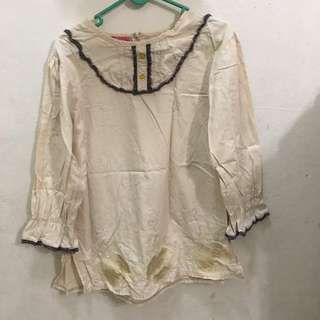 L/sleeve Blouse (Girls 10-12yrs)