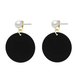 Perona Black Drop Earrings