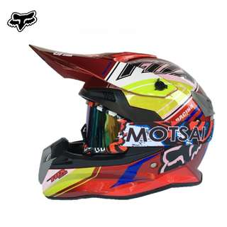 ★READY STOCK★ FREE GOGGLES ★ FOX Helmet FULL FACE MOTORCYCLE HELMET ★OFF ROAD ★NEW  RED ★ MOTOCROSS ★ e-SCOOTER ★ e-bike ★ DIRT BIKE★DOWNHILL ★ WHILE STOCK LASTS