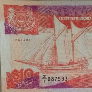 Z1 replacement notes $10 Singapore ship